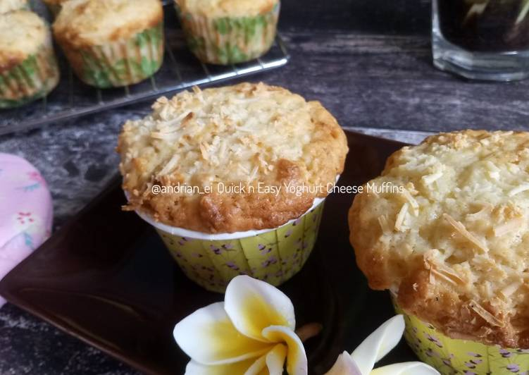Quick and Easy Yoghurt Cheese Muffins