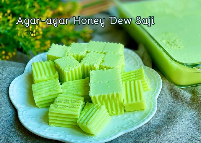 Agar-agar Honey Dew Saji