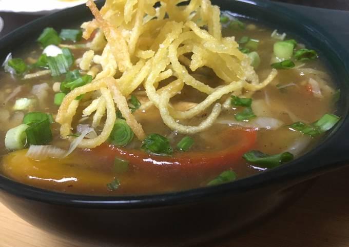 Chicken veg manchow soup