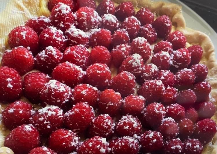 La Meilleur Recette De Tarte aux framboises et crème pâtissière au citron 😋