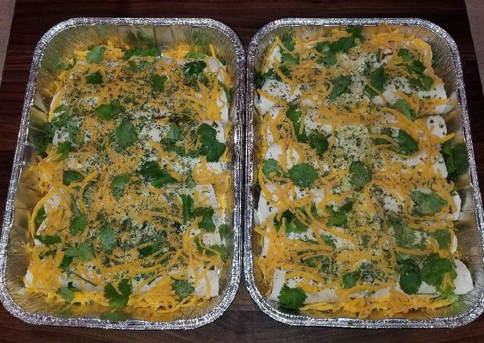 Mike's White Girl Green Chile Enchiladas
