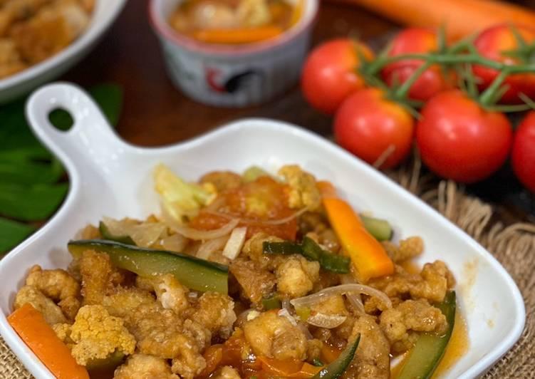 Resep Ayam Koloke saus Asam Manis ala Tiger Kitchen, Lezat