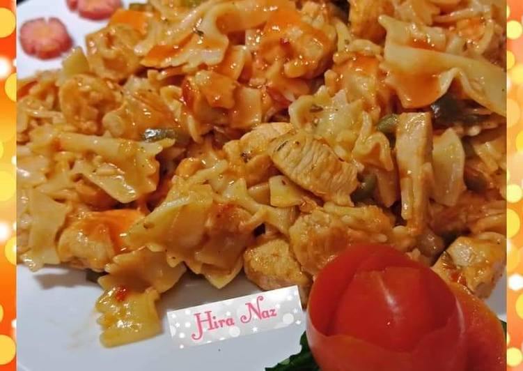 Steps to Prepare Homemade Chicken Pasta Chilli Jalapeño