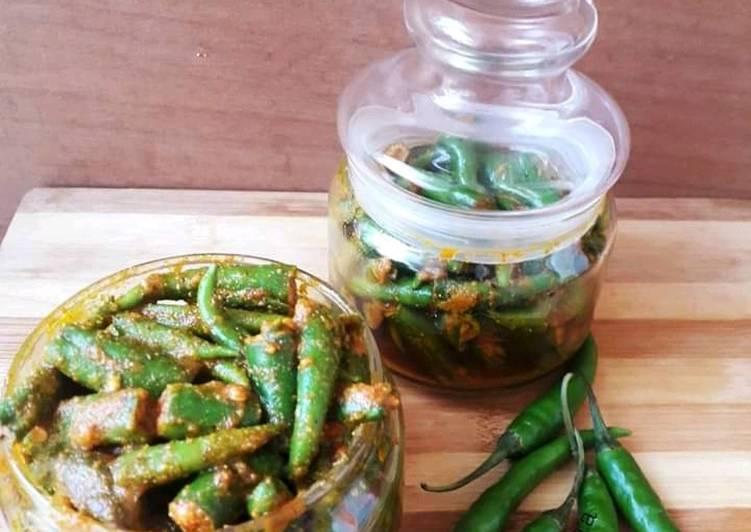 Simple Way to Prepare Favorite Green chilli pickle