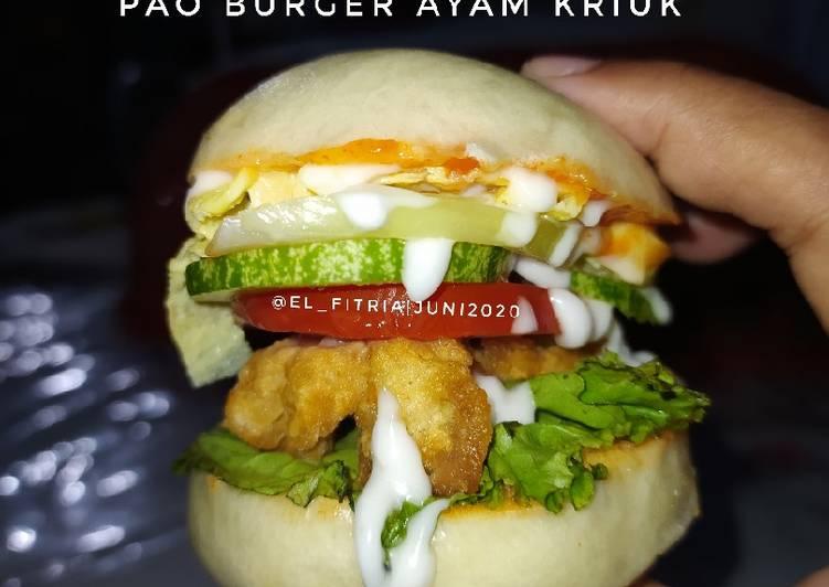 86. Pao Burger isi Ayam Kriuk