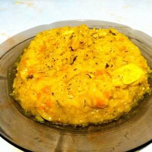 Risotto de arroz con pollo