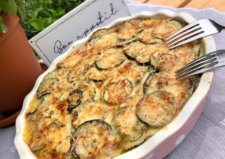 Zucchini-Polenta-Auflauf