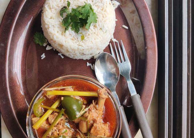 Thai Chicken,Mushroom fried Rice