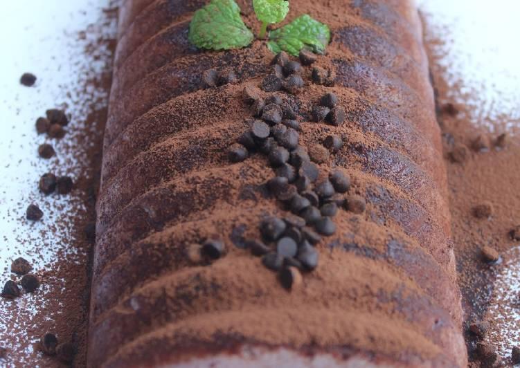 Puding busa coklat