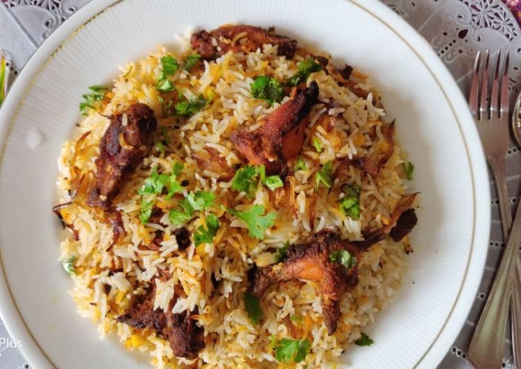 Recipe: Appetizing Tandoori chicken biryani