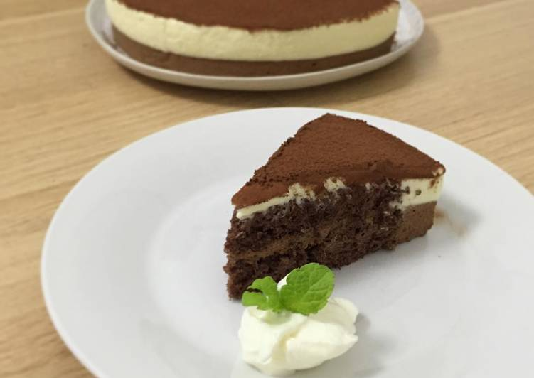Recipe of Perfect Double Chocolate Mousse Cake
