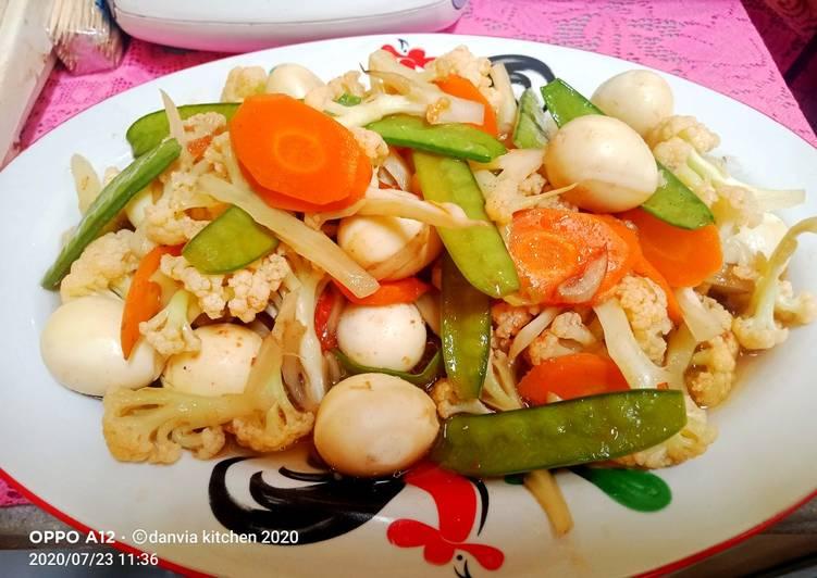 Capcay Sayur dan Telur puyuh