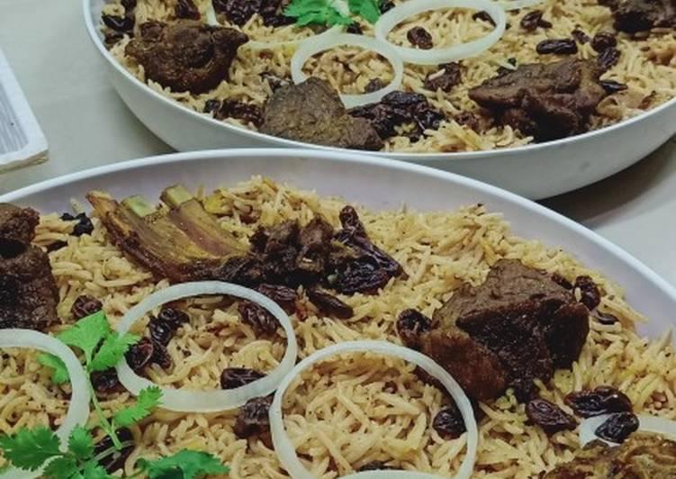 Nasi Mandi Kambing (Mandhi Laham)