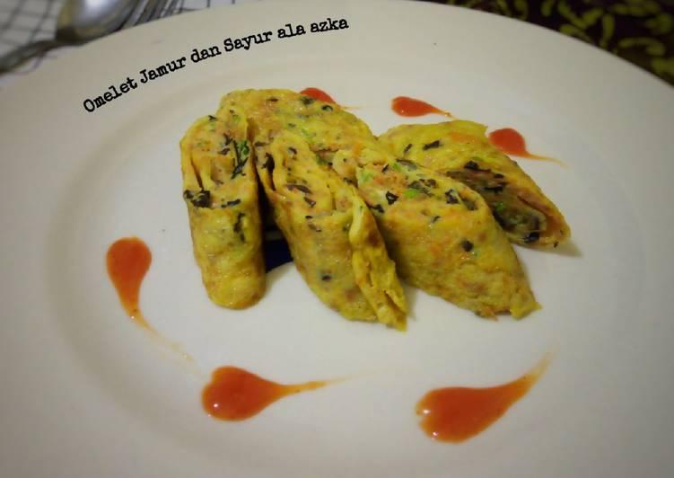 Omelet Jamur dan Sayur