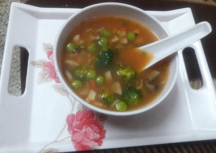 Easiest Way to Make Homemade Brockely Mushroom Peas Soup