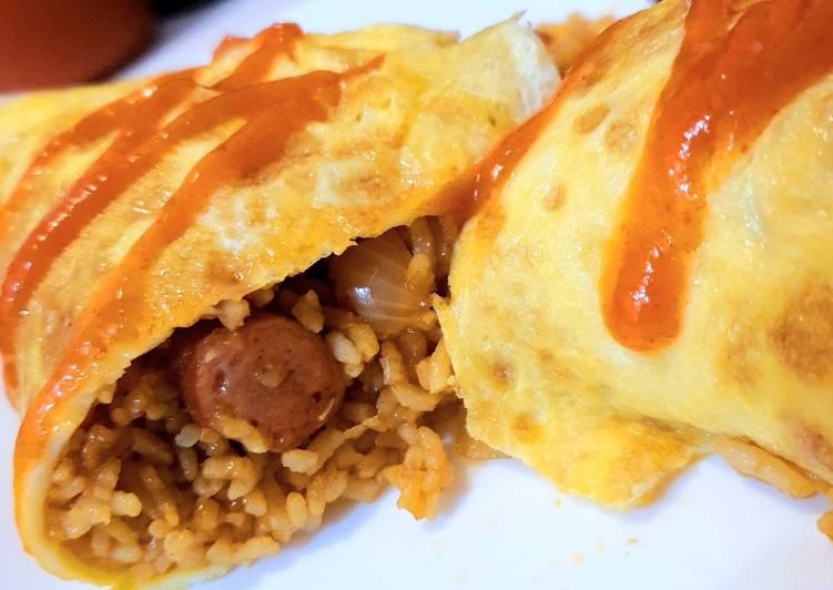 Resep Simple Omurice nasi goreng jepang- cocok untuk si kecil 24 y.o+ Paling Gampang