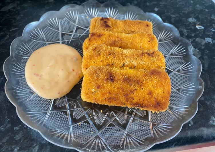 Breaded Halloumi cheese