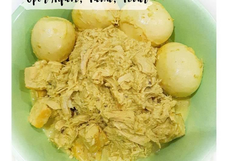 Opor Ayam, Tahu, Telur