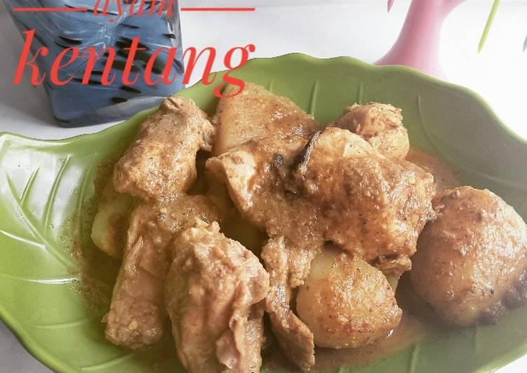 Rendang ayam kentang