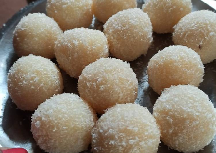 Easiest Way to Make Any-night-of-the-week Coconut ladoo