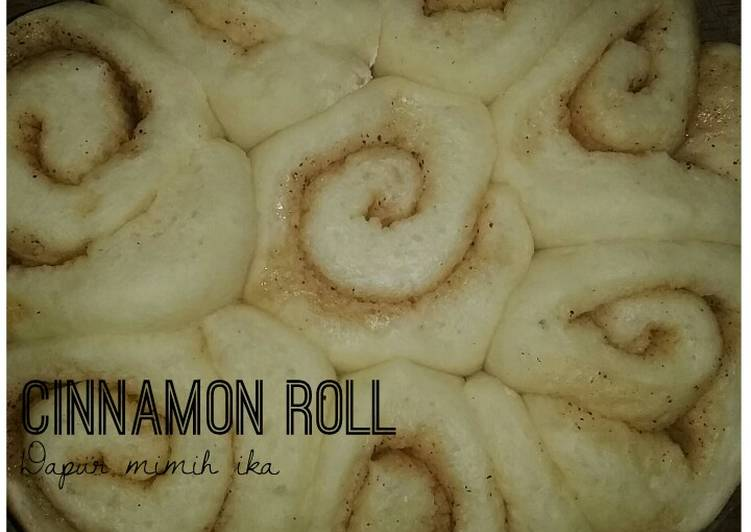 Cinnamon roll 1 telur yummy 😋 with baking pan