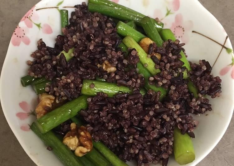 Black rice & quinoa salad