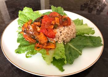 Easiest Way to Recipe Appetizing Simple lunch with Recooked Sardine and Brown Rice