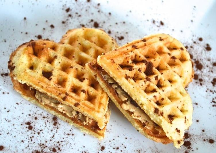 Turn to Food to Improve Your Mood Peanut Butter and Chocolate Waffles Sandwiches