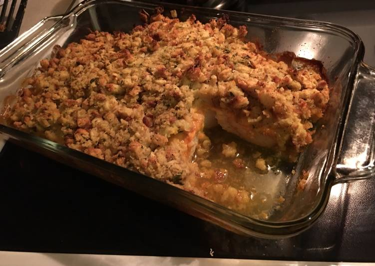 Easy chicken stuffing bake