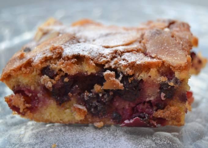 Gâteau aux framboises et aux amandes
