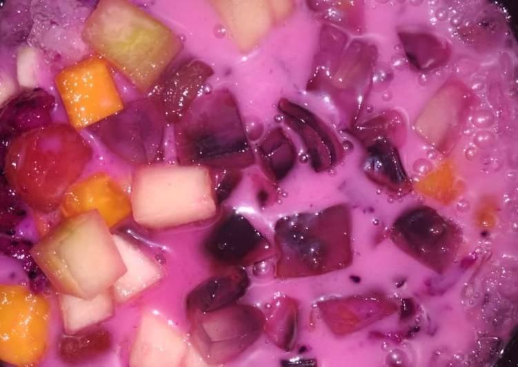 Es buah nutrijel warna warni