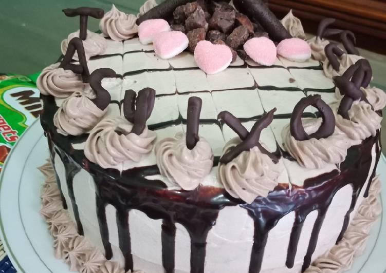 Cara Gampang Membuat Milo BirthDay Cake Anti Gagal