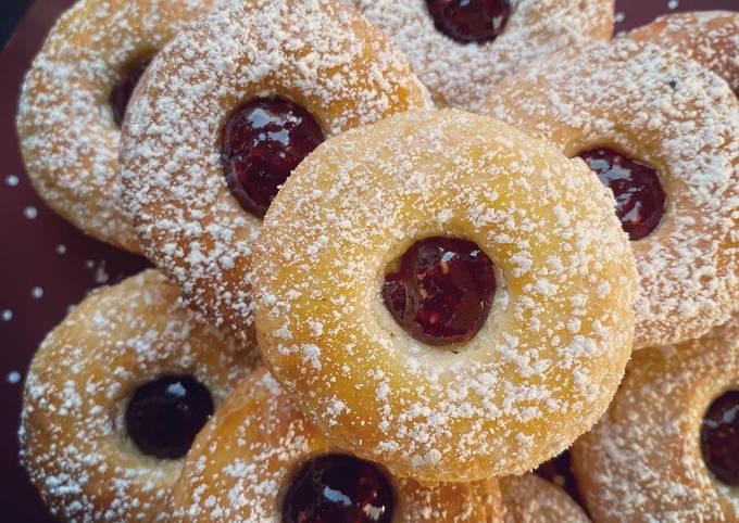 Biscuits de Noël.. Linzer à la framboise