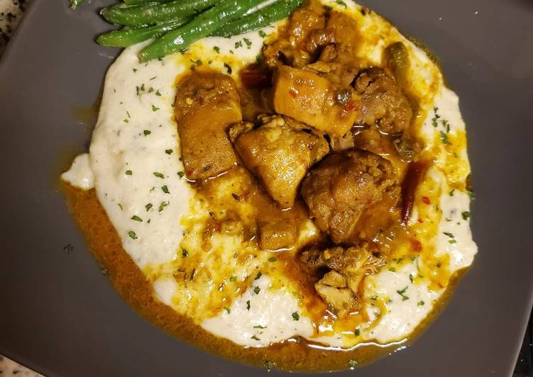 Easiest Way to Cook Appetizing Curried chicken & grits ???
