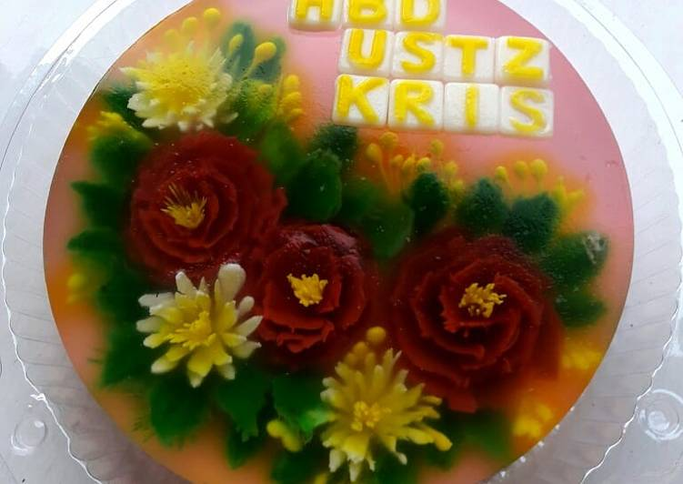 Puding jelly art(versi puding ultah)