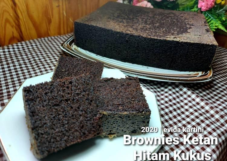 Brownies Ketan Hitam Kukus