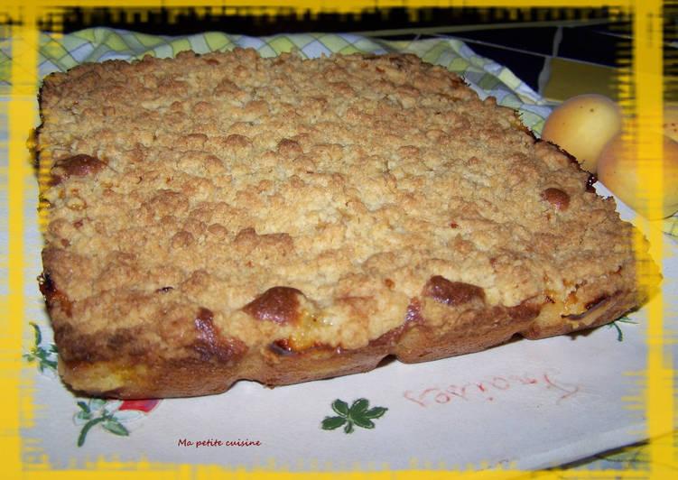 Recette Délicieux Gâteau crumble à l'abricot
