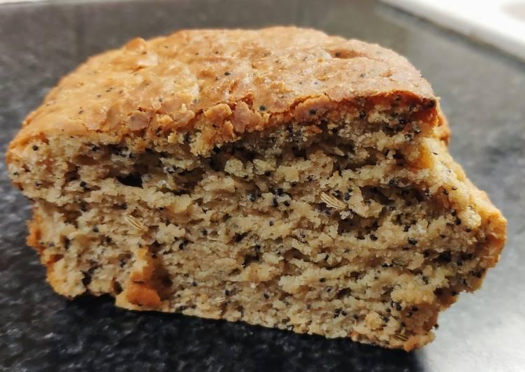 Cake au citron/graines de pavot et graines de fenouil (vegan)