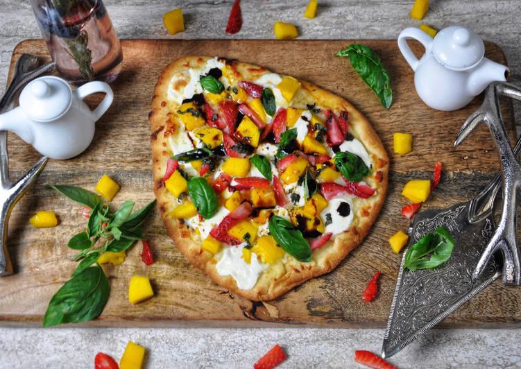 Mango Strawberry Naan Pizza