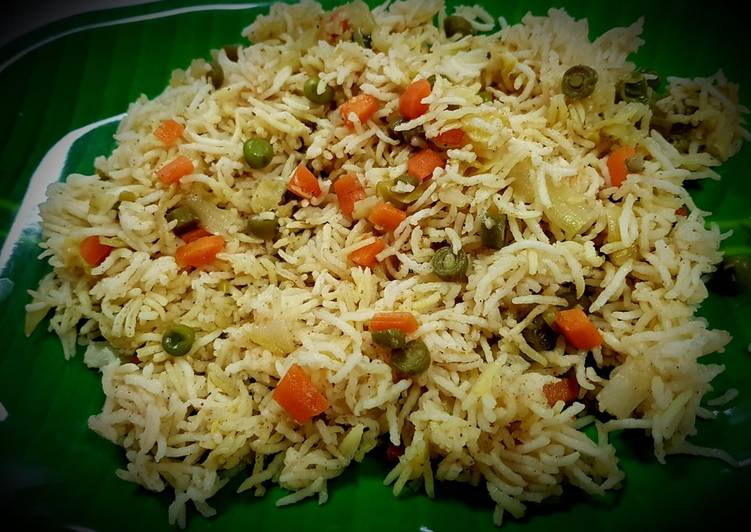 Veg Pulav (Simple Version)