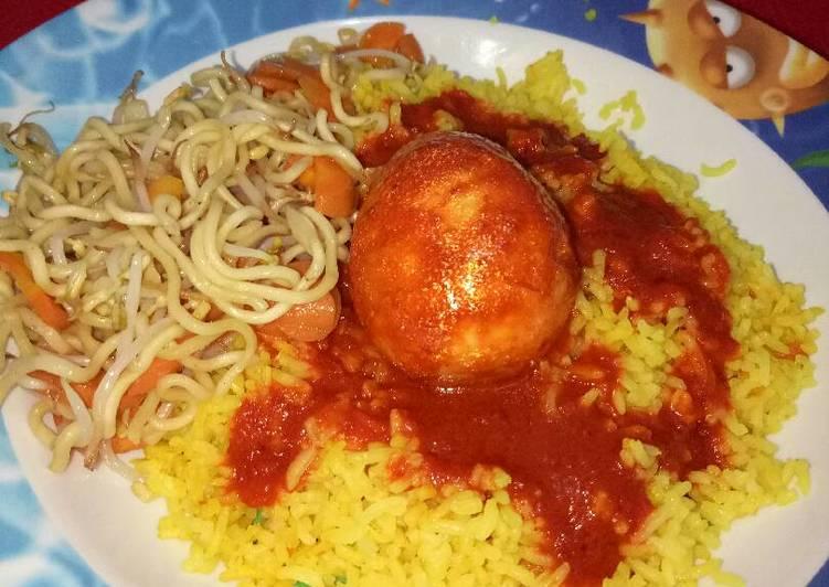 Resep Nasi Kuning Masak Habang Banjar (ala magicom/ rice cooker) yang Sempurna