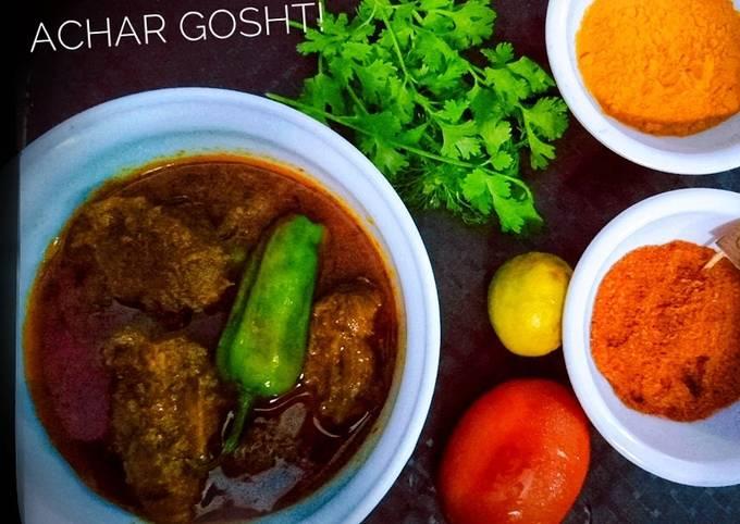 Recipe of Favorite Achar Gosht!