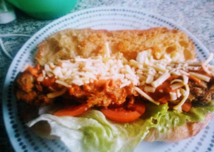Salt n Pepper Chicken Sandwich with Chipotle Sauce