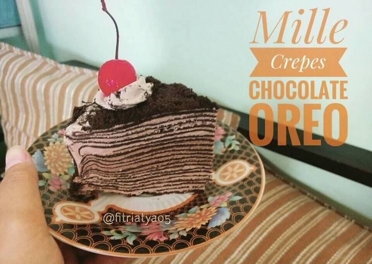 Mille Crepes Chocolate Oreo