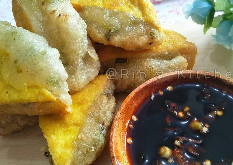 Fried Tofu Stuffed with Aci (Tapioca Starch)