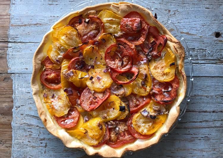 La Meilleur Recette De Tarte salée thon-tomates