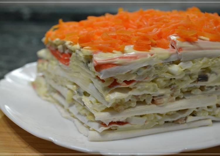 Салат закусочный рецепт с фото