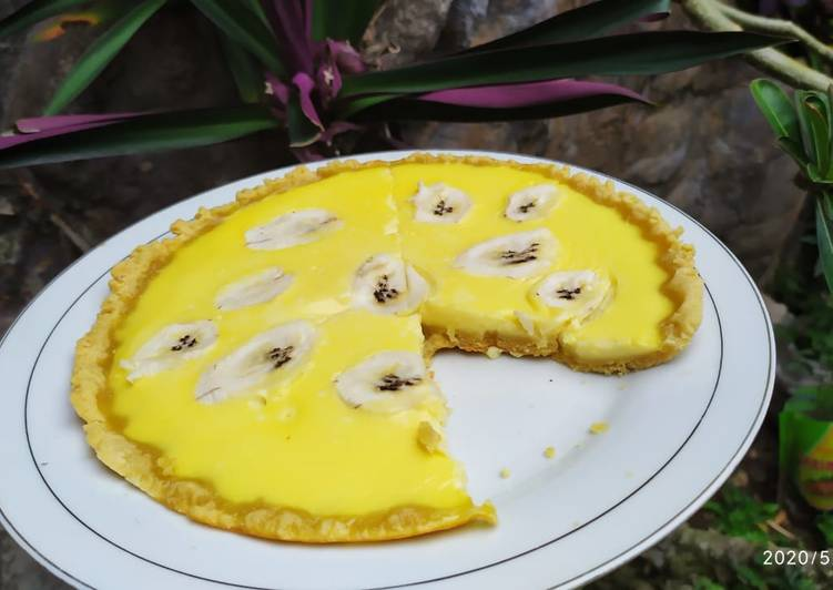 Pie susu teflon with banana