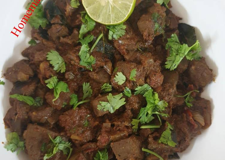30 Minute How to Make Quick Mutton Liver Pepper Fry