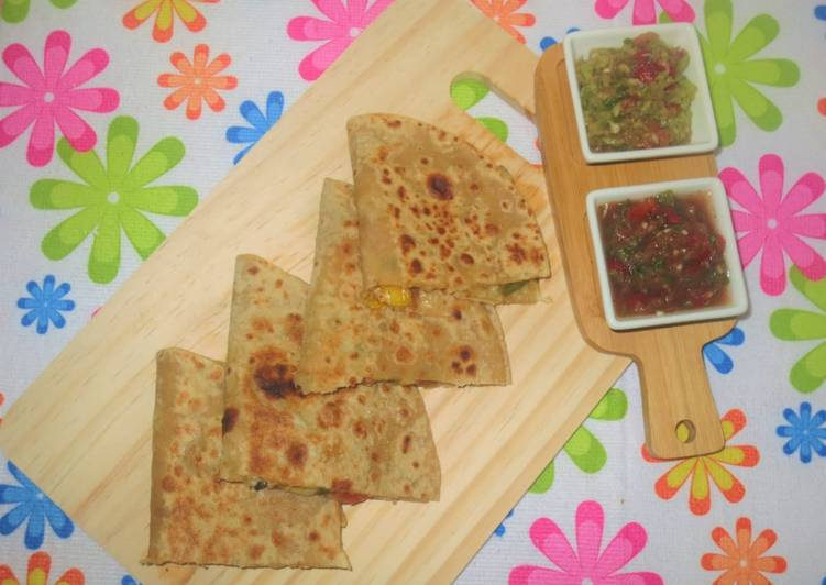 Going Green for Better Health By Consuming Superfoods Sweet Corn and Paneer Quesadillas with Salsa and Guacamole